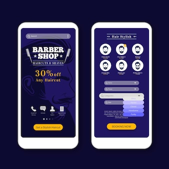 Barber shop buchung app vorlage