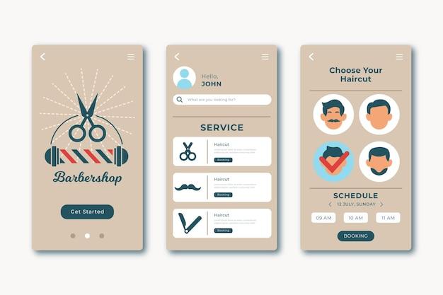 Barber shop buchungs-app-konzept