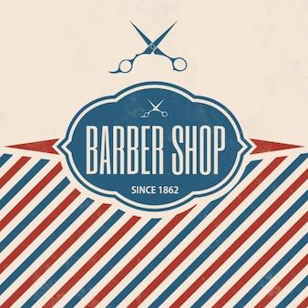 Barber shop hintergrund-design