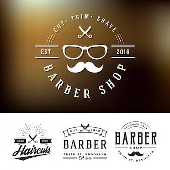 Barber shop logos gesetzt