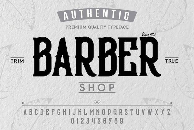 Barber shop schrift