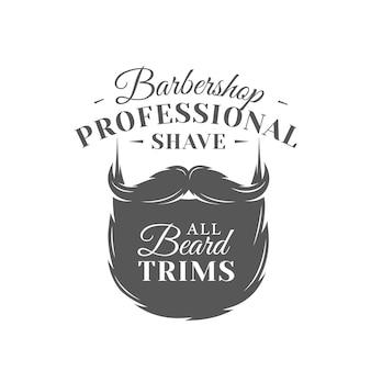 Barbershop-etikett isolierte illustration