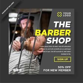 Barbershop instagram vorlage design social media post