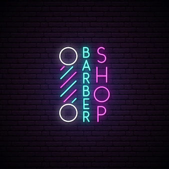Barbershop-leuchtreklame.