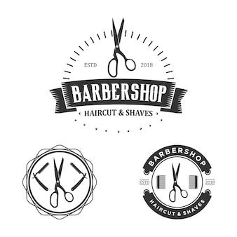 Barbershop logo jahrgang