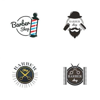 Barbershop-logo-sammlung