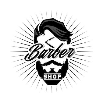 Barbershop logo vorlage