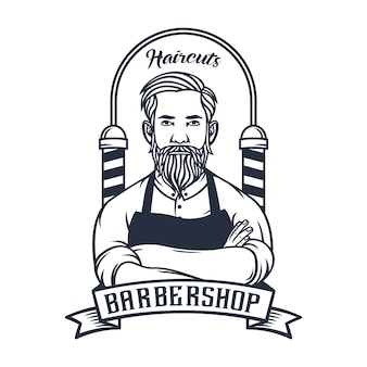 Barbershop-logoillustration