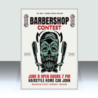 Barbershop-plakat-vorlage