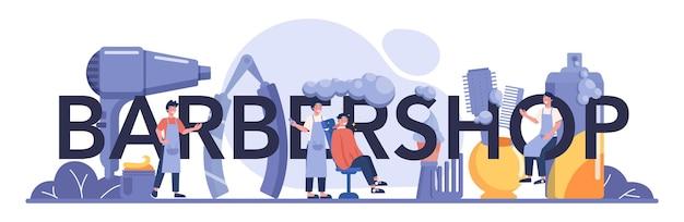 Barbershop typografische überschrift