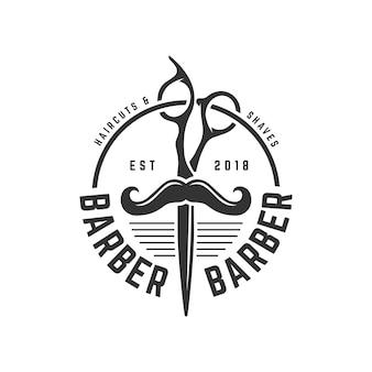 Barbershop vintage logo vorlage
