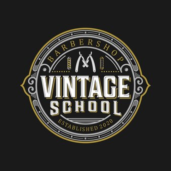Barbershop vintage-logo.
