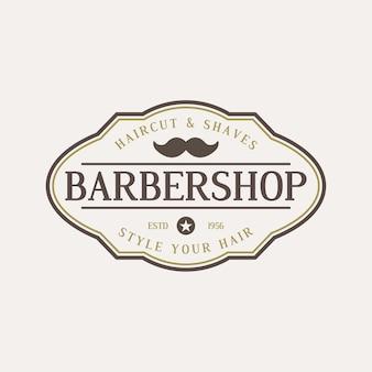 Barbershopvintage hipster logo Premium Vektoren