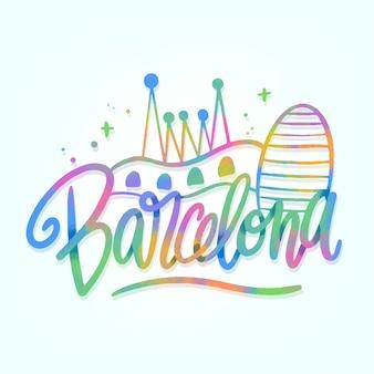 Barcelona stadt schriftzug