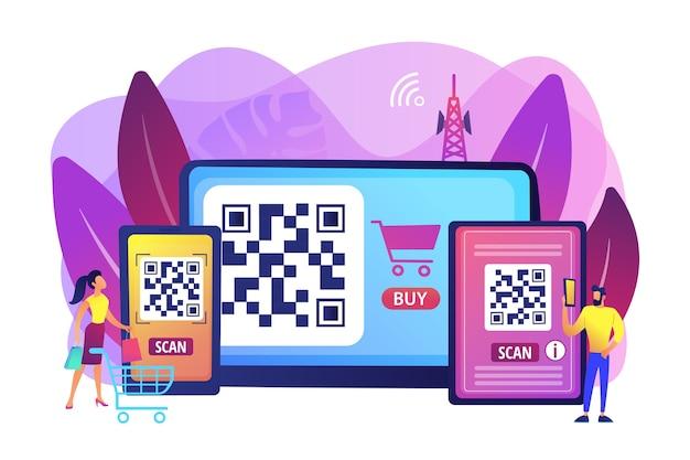 Barcode lesen app illustration