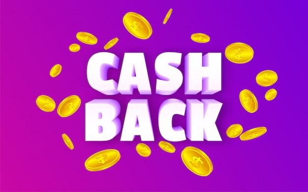 Bargeld zurück mit münzen