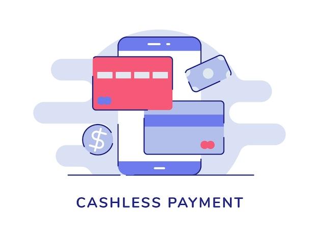 Bargeldlose zahlung smartphone kredit debitkarte