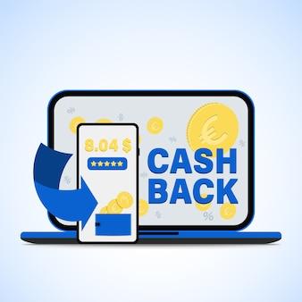 Bargeldrückerstattung für den kauf über die smartphone-app.