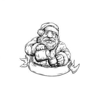 Barista von santa claus