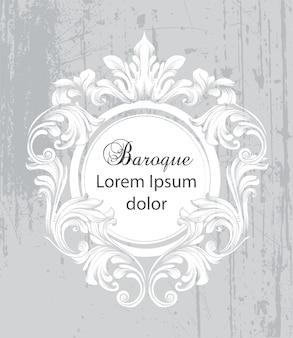 Barocke rahmenkarte der weinlese