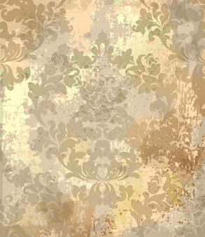 Barocke textur muster der weinlese