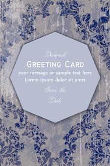 Barocke verzierte grußkarte