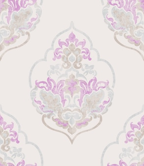 Barocke verzierung. luxus aquarell trendige textur. vintage retro alte stile