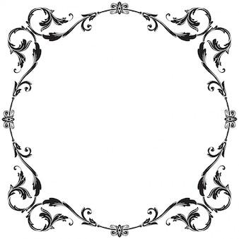 Barocke verzierung verzieren