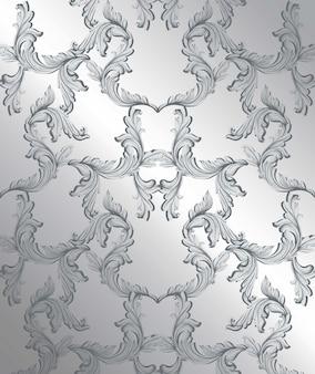 Barocker musterdekor für einladung, hochzeit, grußkarten. vektor-illustrationen
