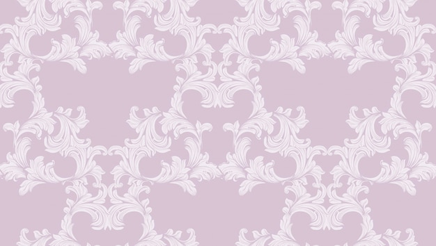 Barocker musterhintergrund des damastes. ornament dekor für einladung, hochzeit, grußkarten. vektor-illustrationen