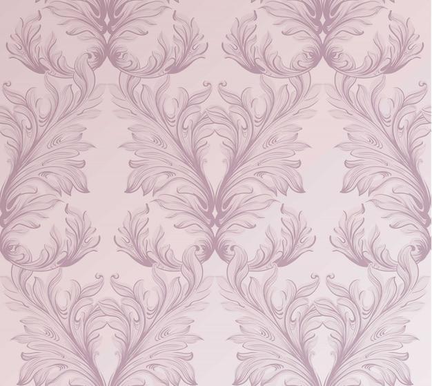 Barocker musterhintergrund. ornament dekor für einladung, hochzeit, grußkarten. vektor-illustrationen