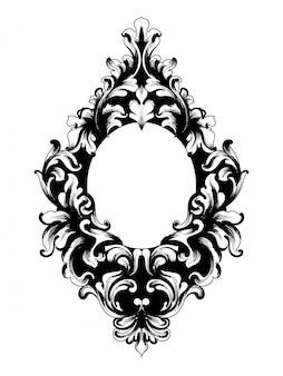 Barocker spiegelrahmen