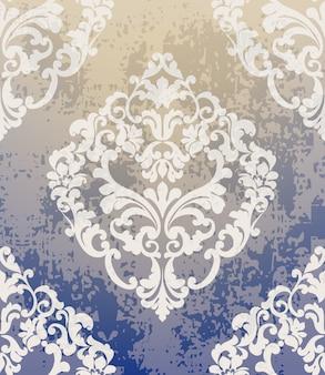 Barockes klassisches damastmuster