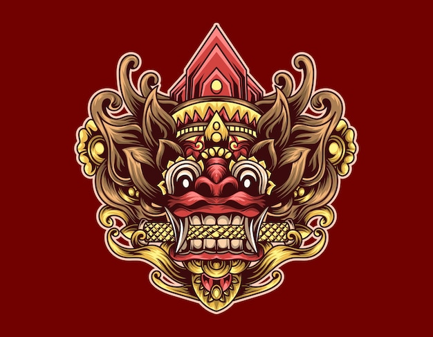 Barong illustration design
