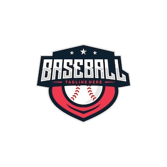 Baseball abzeichen logo illustration