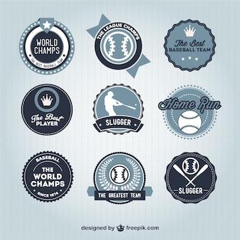 Baseball-abzeichen retro sammlung