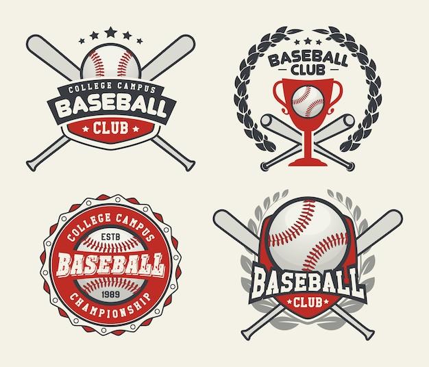 Baseball-abzeichen und etiketten, sport logo design