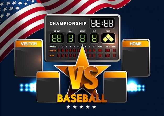 Baseball anzeigetafel