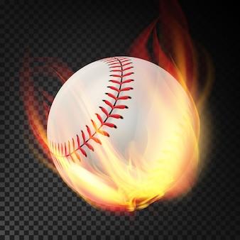 Baseball auf feuer