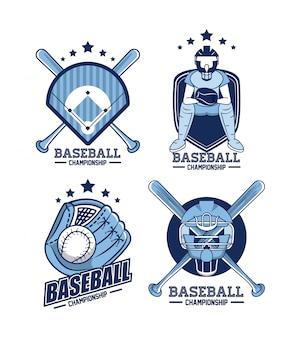Baseball emblems sammlung