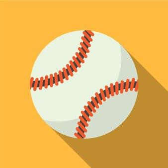 Baseball-flache ikonenillustration lokalisiertes vektorzeichensymbol