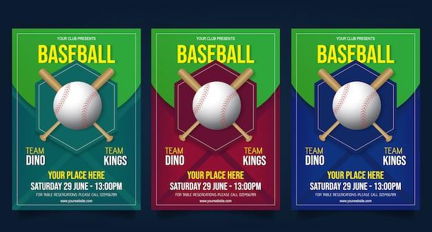 Baseball flyer vorlage vektor