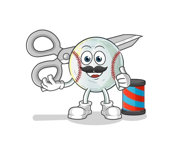 Baseball friseur cartoon illustration