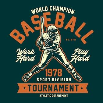 Baseball grafik t-shirt