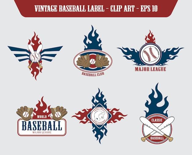 Baseball-label-aufkleber-label-aufkleber