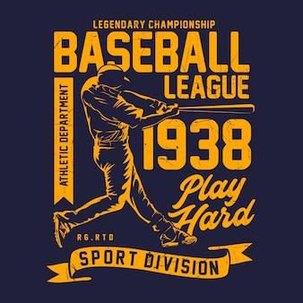 Baseball league grafikdruck