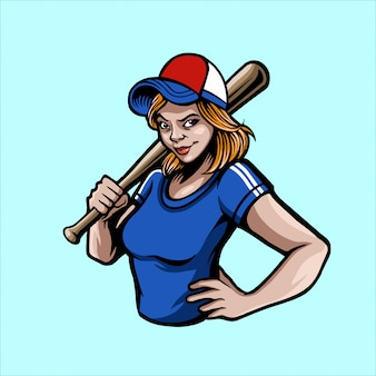 Baseball-mädchen