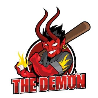 Baseball-maskottchen - der dämon