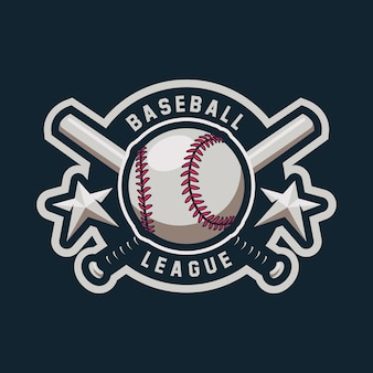Baseball maskottchen logo design