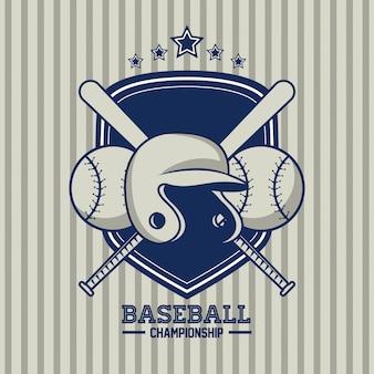 Baseball-meisterschaftskarte